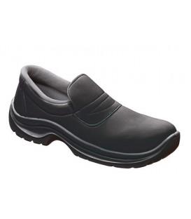 Zapato con puntera de seguridad ajustable con elástico,